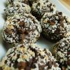 Double chocolate coconut banana muffins