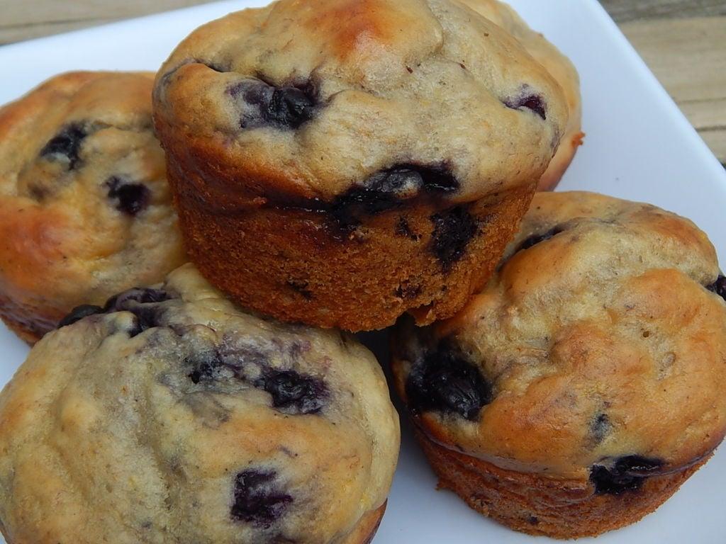 Blueberry Lemon Banana Yogurt Muffins Drizzle Me Skinny