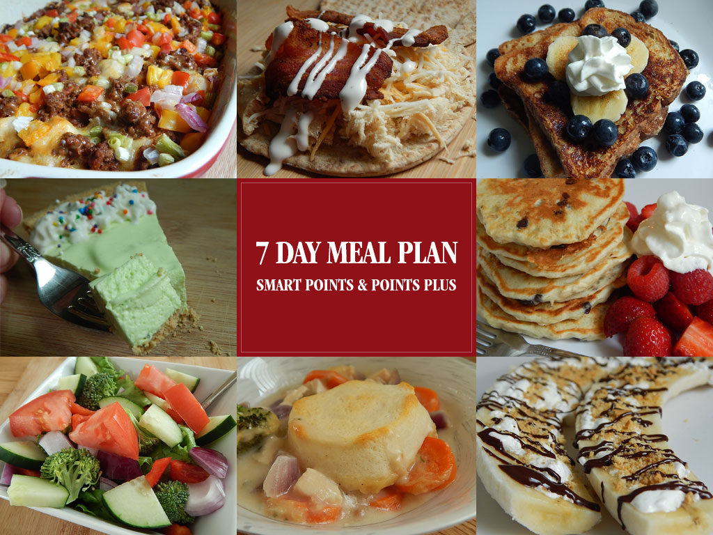 7 day meal plan for smart points & points plus - Drizzle Me