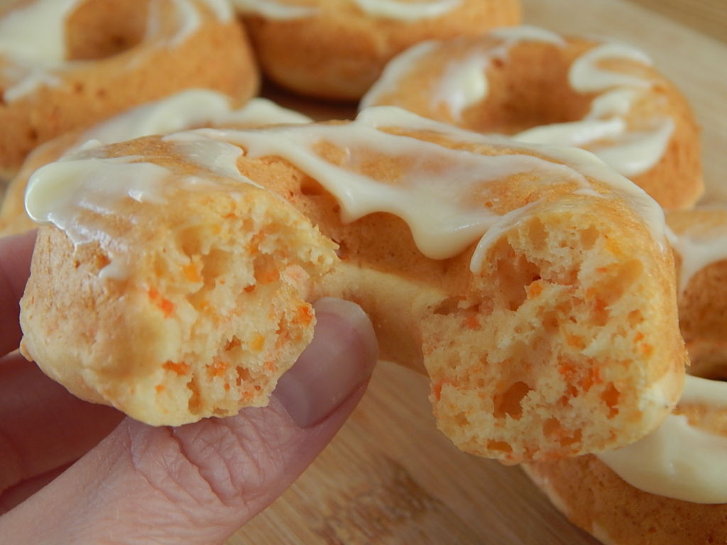 Carrot Cake Donuts With Cream Cheese Icing Drizzle Me