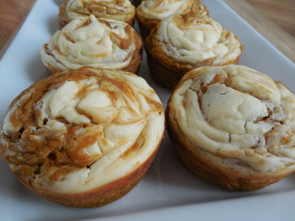 Pumpkin spice cream cheese muffins - Drizzle Me Skinny ...
