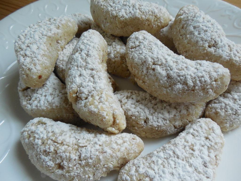 Lightened Up Almond Crescent Cookies