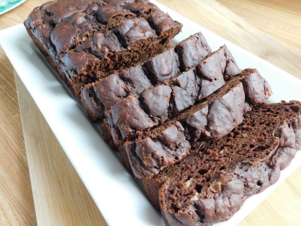 Loaf Recipes Using Cake Mix: Double Chocolate Banana Pudding Loaf