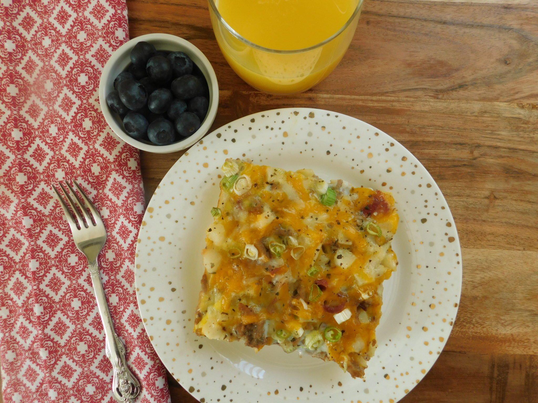 Turkey hash brown breakfast casserole